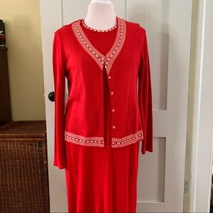 SLEEVELESS SW DRESS WITH MATCHING SWEATER, NWOT